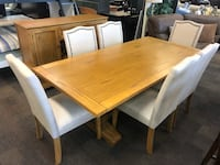Table Set with 6 chairs and a matching Server