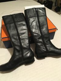 Arturo Chiang Ladies Black Leather Knee High Boots Shoes 7.5M — Brand New In Box — Never Worn Columbia, 29212