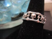 Silver Skull Band Ring Size 10 - New Jewelry Rockford