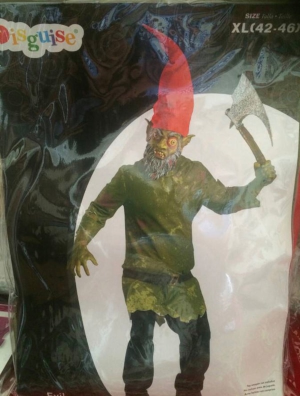 New - Scary Gnome Costume Men Size XL