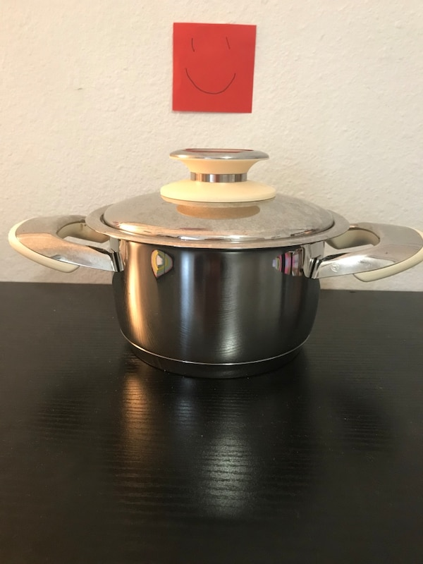 black and gray cooking pot and glass lid