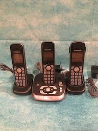 3 Panasonic Cordless Phones.