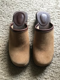 J. Crew Women's size 6 suede and wooden clogs- worn once Alexandria, 22310