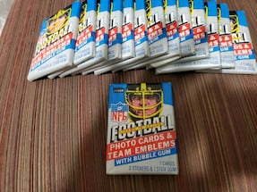 1984 Fleer Football Wax Packs