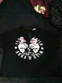 black, red, and white rose and skull-printed shirt Imperial, 92251