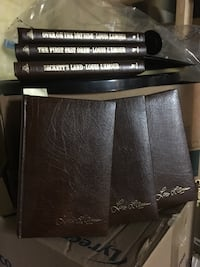 Louis Lamour Leather bound books selling as a set