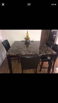 rectangular black marble top table with four chairs dining set Denver, 80222