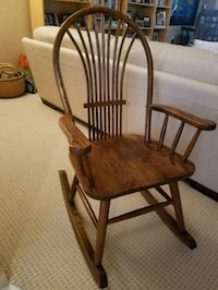 brown wooden windsor rocking chair Carefree, 85377