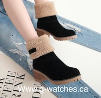 Women's high heels snow boots with fur inside made in Nubuck  794 km