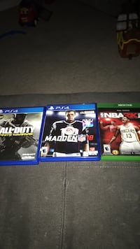 Call of duty infinite warfare for PS4 Madden NFL 18 and 17 for PS4 NBA 17 for Xbox one Sterling, 20164