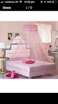 Exotic bed curtain