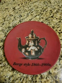 red and black Barge Style print decorative plate Phoenix, 85017