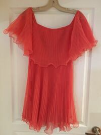 BCBG small coral pleated dress