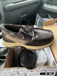 pair of brown leather boat shoes Weslaco, 78596