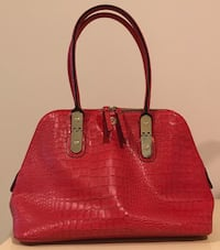 Kate Landry red satchel *Negotiable* Sewell, 08080