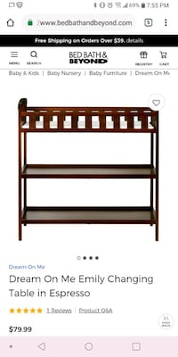 brown wooden changing table screenshot Albuquerque, 87105