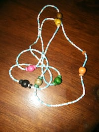 Beads and wooden beads colored necklace 2330 mi