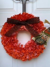 Handmade Fall Rag Wreath Londonderry, 03053