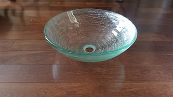 Glass sink new in box