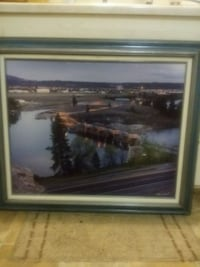1995 OIL PAINTING OF A RIVER DAM # 2 of 90 made