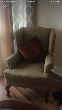 brown fabric sofa chair with ottoman Toronto, M6A 1L7