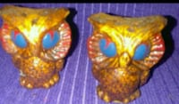 Collectors salt and pepper shakers brown owls Liberty, 64068