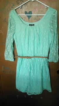 women's teal scoop-neck dress 1180 mi