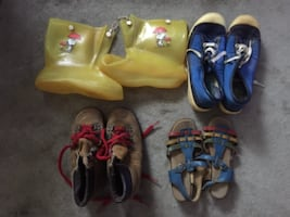 3 KIDS SHOES, ONE MENS