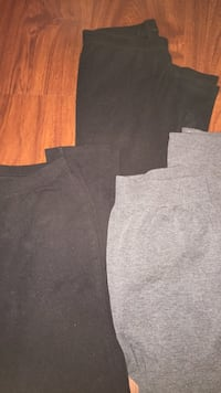 3$ each or 5 together, 2 pairs of Girl's black tights size 10 &  grey tights Women's size Small Philadelphia, 19134