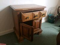 Solid wood table bedside table Norton