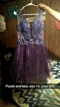women's purple and silver dress Pontotoc, 38863