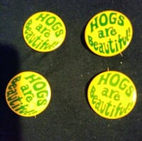 "Hogs are Beautiful 1 5/8"" pin Des Moines, 50315"