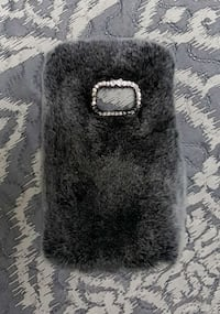 Fur/Rhinestone Samsung Galaxy S7 phone case blk/g  Woodbridge, 22193