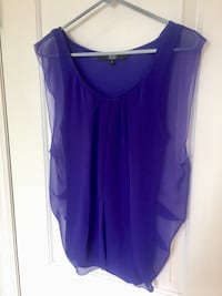 purple sleeveless top size small  Vaughan, L4L