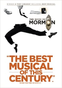 Book of Mormon - 4 tickets with the best seats Toronto