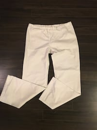 White xs small tall scrub pants  Lincoln, L0R