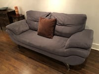Suede Sofa Modern Grey