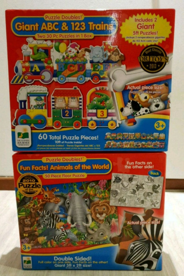 SALE! Jumbo jig-saw puzzles for young children.