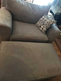 gray suede sofa chair with ottoman San Diego, 92114