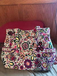 Brand-new *retired* Vera Bradley pleated tote Northvue, 16001