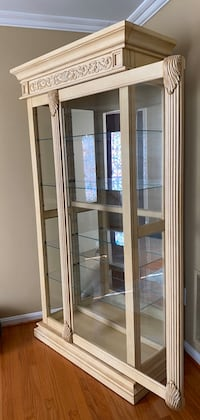 Curio Cabinet with sliding door & inside light