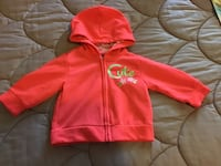 Red zip-up hoodie brand new.....Beautiful for your BEAUTIFUL BABY GIRL!!! Elkhart, 46516