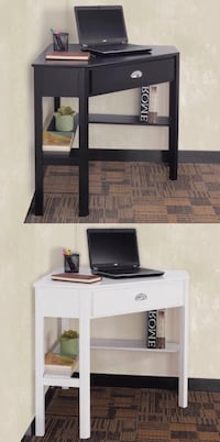 New in box $80 each black or white color wooden space saving corner computer laptop desk table with drawer 30x30x30 inches Whittier, 90605