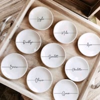 Personalized ring dishes (circular)  Toronto, M1E 4A7