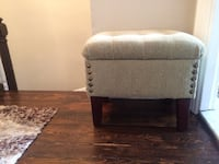 """Small ottoman with metal fastenings.great condition .22""""LX17""""WX19""""H Boston, 02125"""