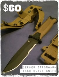 GERBER STRONGARM FIXED BLADE KNIFE COYOTE Boston