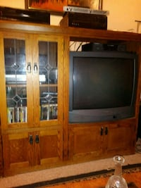 Entertainment center with television