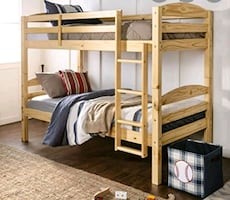 Bunk bed and 2 mattress