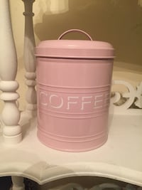 Pink coffee canister  White Plains, 10603