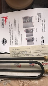 Brand new part for Smoker ovens by COOKSHACK company. Part for the oven model SM160   New instructions book brand new. Don't miss out on this sale Toronto, M8Y 1N6